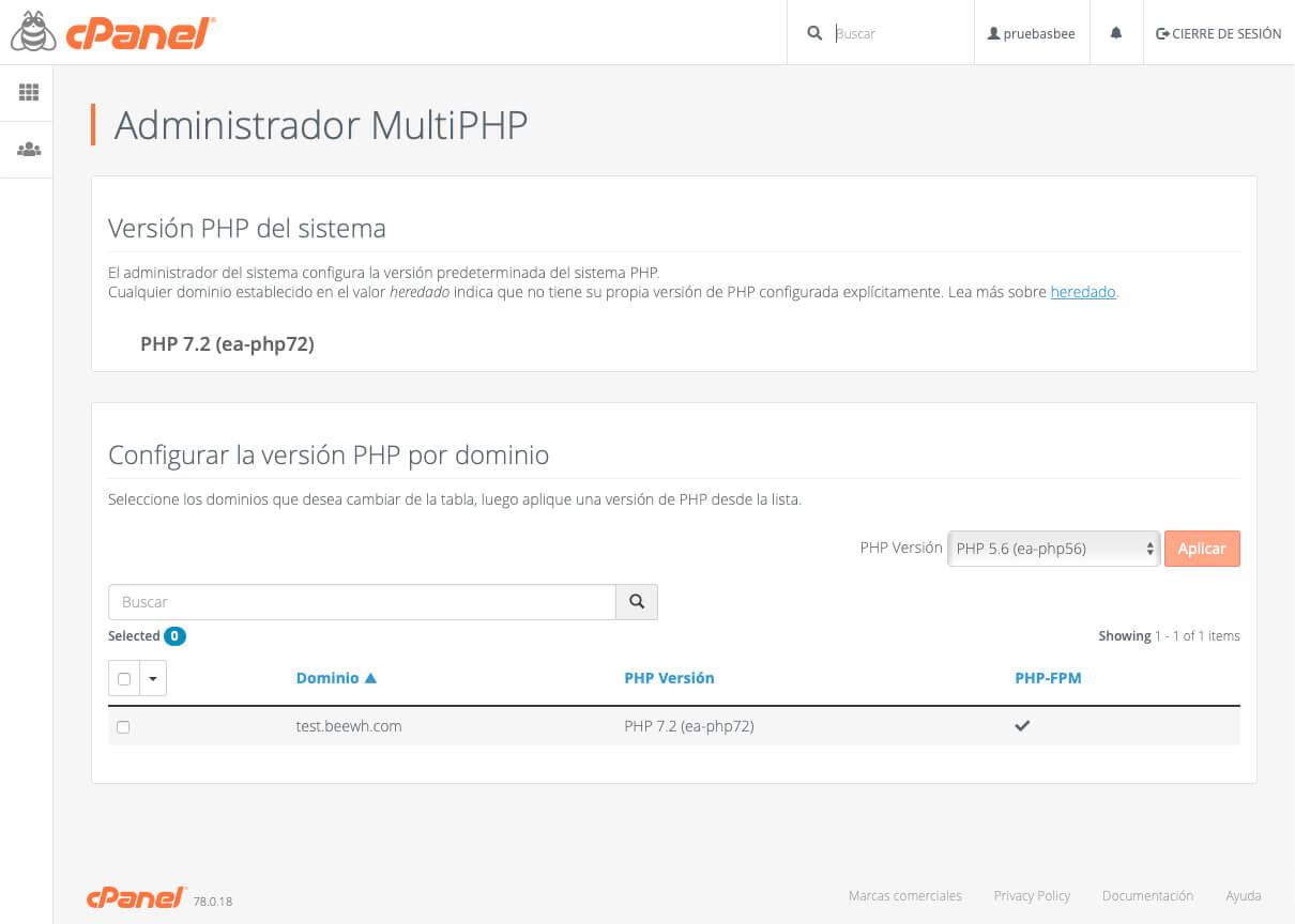 Múltiples versiones de PHP